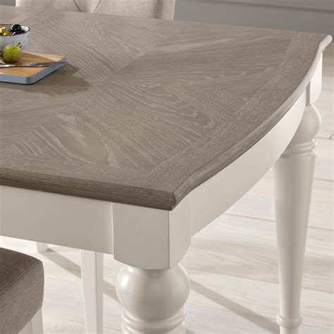 Grey Wash Dining Table Hton Grey Wash Oak Small Extending Dining Table