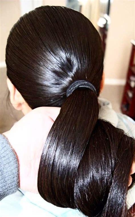amazing thick shiny pony long hair styles long ponytail