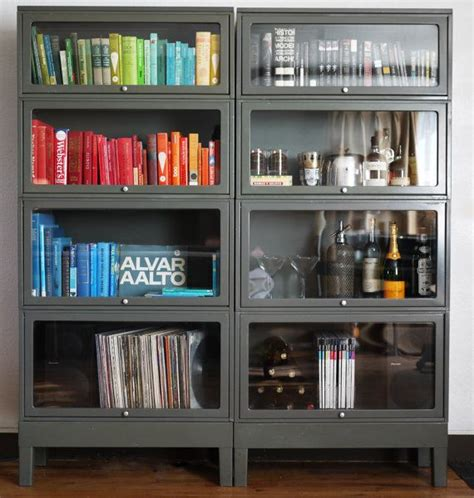 Bookcases For Paperbacks Simple Metal Barrister Bookcase For Your Room Homesfeed