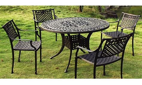 steel or aluminum patio furniture metal patio furniture sets patio design ideas