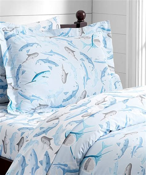 Kids Shark Bedding Shark Frenzy Duvet Cover Shark Crib Bedding
