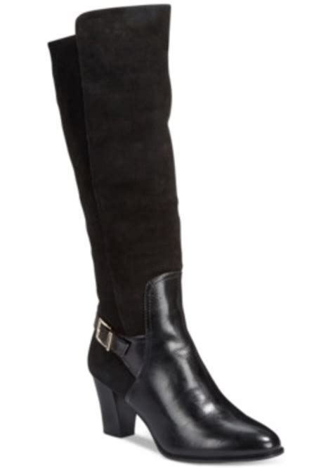 alfani alfani careeni wide calf dress boots only at macy
