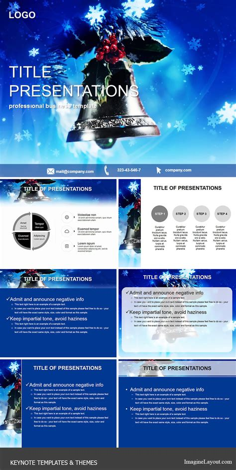 keynote holiday themes christmas bell keynote template imaginelayout com