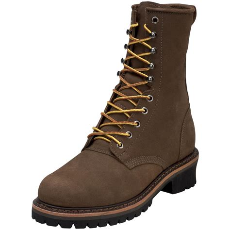 golden retriever logger boots s golden retriever 174 9 quot buffalo leather steel toe logger 143934 work boots at