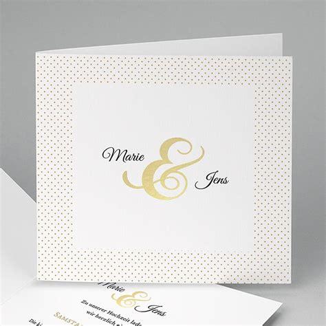 Hochzeitskarten Edel by Hochzeitseinladungen Modern Edel Und Dezent Carteland De