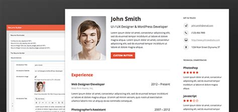 Resume Builder Jquery Resume Builder A Plugin To Build Out Your Complete Resume Designbeep
