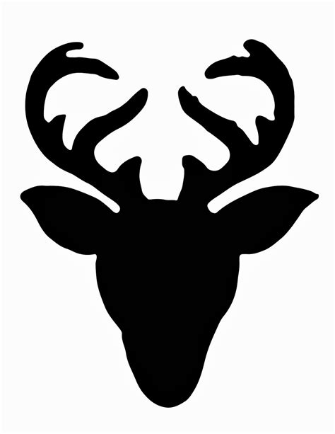 free printable reindeer head deer head silhouette vector clipart best