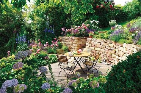 dekoration garten terrasse garten pflanzen sichtschutz gestalten ideen