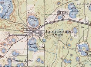 interlachen florida map interlachen 1916