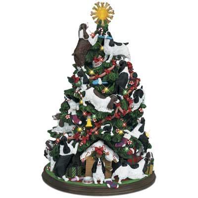 springer spaniel christmas tree  danbury mint