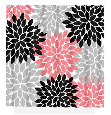 coral and gray shower curtain 25 best ideas about coral shower curtains on pinterest