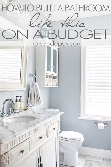 Diy Home Improvement Ideas On A Budget Bathroom Renovations Budget Tips