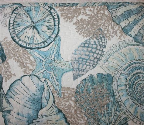 Shell Quilt by Modern Interior Coastal Shells Teal Quilt Set