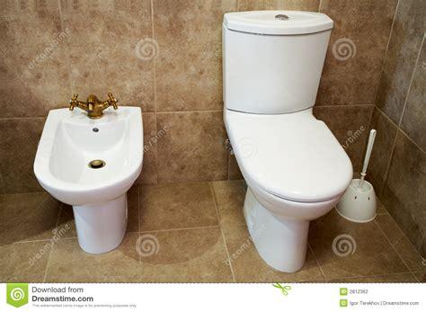 toilet bowl with bidet toilet bowl and bidet stock photography image 2812362