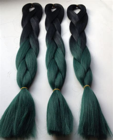 colored braiding hair new teal green hair ombre color box braids ombre hair