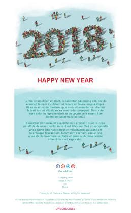 newsletter templates for happy new year 2018 mailpro