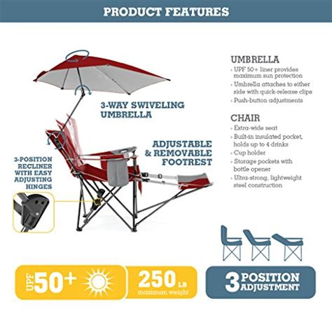 sport brella recliner sport brella recliner chair 3 position recliner w full