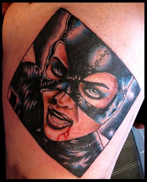 catwoman tattoo by thirteen7s on deviantart