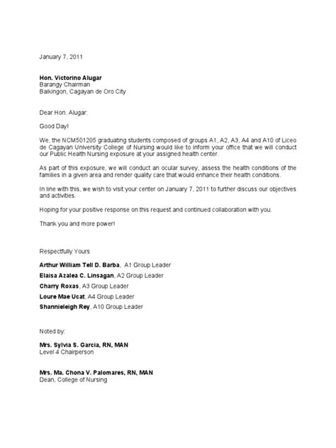 Request Letter Format Industrial Visit Sle Letter Of Request Meeting Appointment In The Boro
