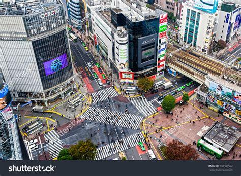 november tokyo tokyo november 12 shibuya crossing november stock photo