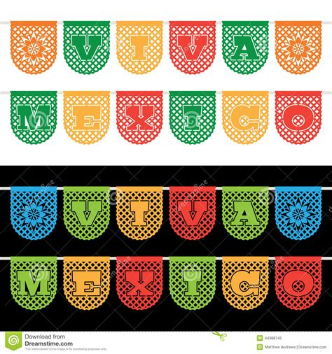 How To Make Mexican Paper Banners - mexican bunting banners stock vector image 44388745