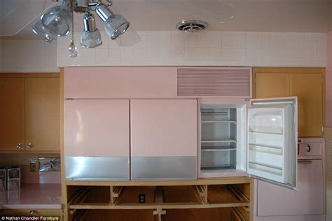 Vintage Looking Kitchen Cabinets by Pretty In Pink Inside The Immaculate Chicago Kitchen