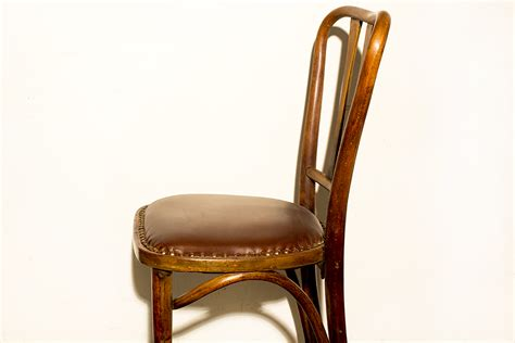 Leather Bistro Chairs Sold Pair Of Thonet Bistro Chairs With Leather Seats Circa 1900 Rehab Vintage Interiors