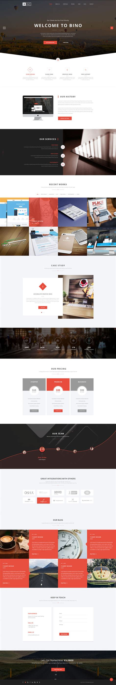 landing page free template 40 best free landing page psd templates designmaz