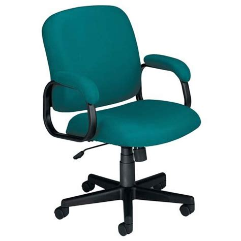 teal matte fabric low back desk chair ofm office furniture