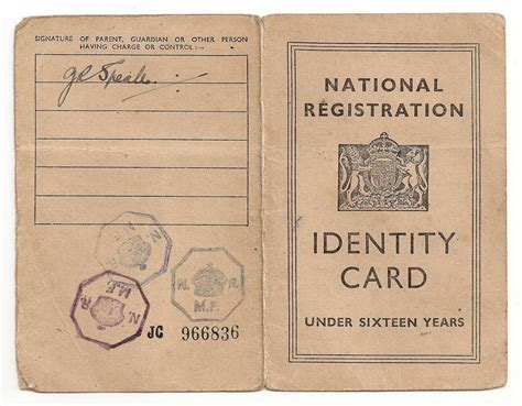 world war 2 identity card template archive child identity card