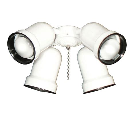 ceiling fan with spotlights troposair 463 spotlight white indoor outdoor ceiling