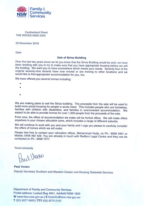 Support Letter For Department Of Housing power saving sirius assemble papers