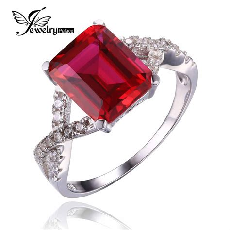 2 2 Ct Ruby Top Blood aliexpress buy emerald cut fashion gem for