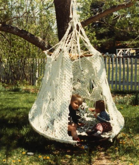 macrame swing chair pattern double decker macrame plant hanger my mom had these ugly