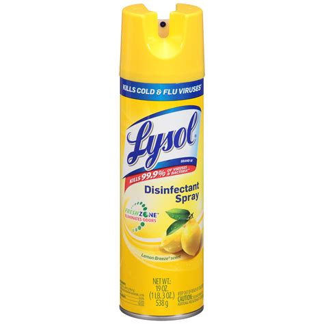 lysol disinfectant spray lemon breeze  oz