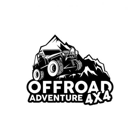 jeep adventure logo offroad adventure 4x4 logo vector vector premium