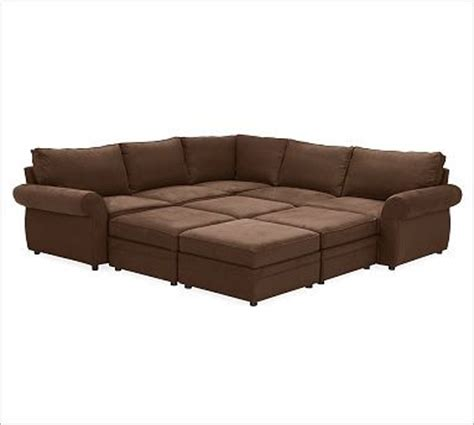 Pit Sectional Sofa Pearce Upholstered 6 Pit Sectional Brushed Canvas Espresso Traditional Sectional