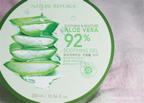 Harga Nature Republic Skin Care review nature republic soothing moisture aloe vera