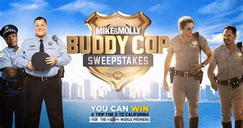 mike and molly buddy cop sweepstakes mikeandmollyweeknights com - Mike And Mike Sweepstakes