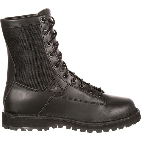 rocky boots rocky s 8 quot portland lace to toe waterproof duty boot