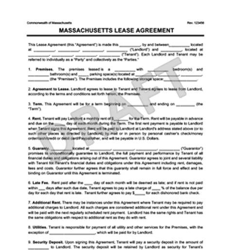 Massachusetts Residential Lease Agreement Create Download Massachusetts Rental Lease Template