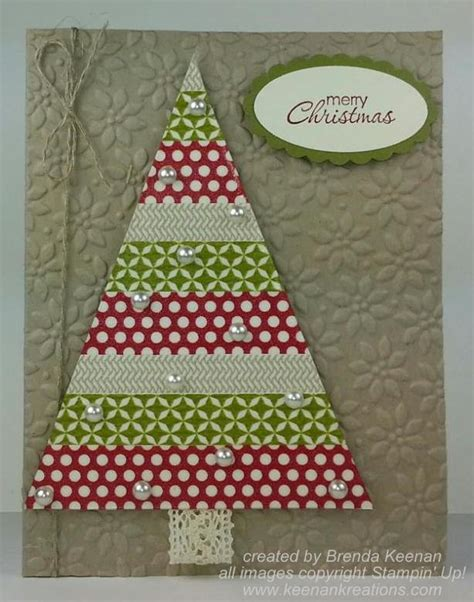 easy christmas card with washi tape keenan kreations