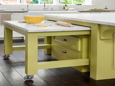 kitchen island pull out table work table with wheels pull out table kitchen island