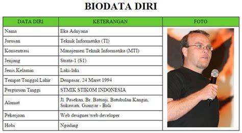 Cara Membuat Tabel Biodata Menggunakan Html | cara membuat tabel biodata diri dengan html