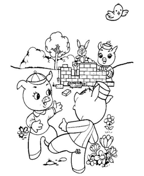 brick house coloring page three little pigs brick house coloring page coloring pages