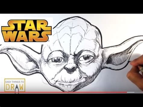 Easy Things To Draw From Wars by How To Draw Yoda From Wars In Ink Easy Things To