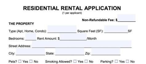 Background Check For Rental Application Free Rental Application Form Pdf Word Eforms Free Fillable Forms