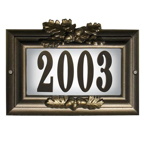 light up address plaque misty oak personalized lighted home address plaque