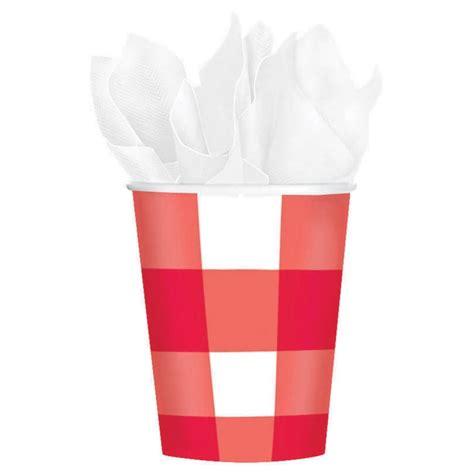 bicchieri rosso bicchieri a quadretti rosso e bianco picnic
