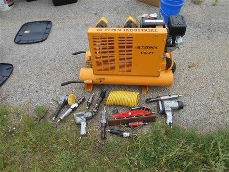 titan tac 2t wheelbarrow style air compressor bigiron auctions